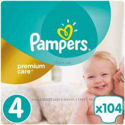 Pampers premium care 4 , 104шт