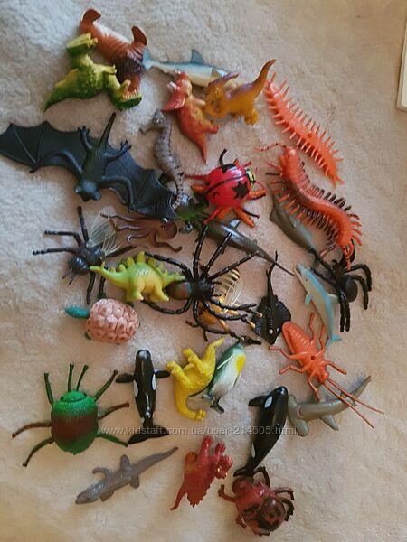 Резиновые животные, насекомые