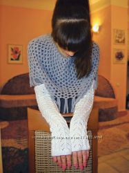 Митенки - перчатки Полный ажур