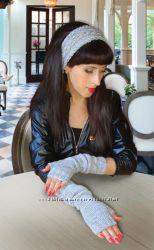 Митенки - перчатки и повязка Modern casual style