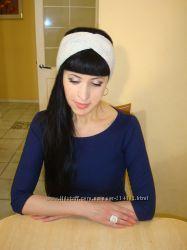 Вязаная повязка на голову чалма - Александра