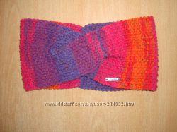 Вязаная повязка на голову чалма - rainbow