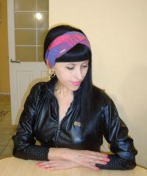 Митенки перчатки Повязка на голову вязаная Чалма - Новогодняя акция