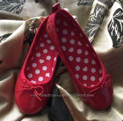 Стильные туфельки - балетки для девочки