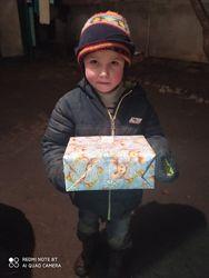 Допомога одяг  різдвяна коробка