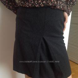 Классическая юбка из шерсти на подкладке в офис или в школу.