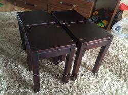 Качественные столы и табуретки с натурального дерева
