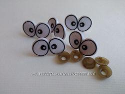 глазки для игрушек на вкрутке 5 грн швейная фурнитура пряжа для