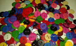 Пуговицы 11 мм пластиковые