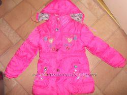 куртка розовая  демисезонная болоньевая