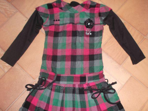 платье  полушерстяное шотландка