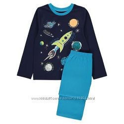 Пижама для мальчика Космос George 3-4 г