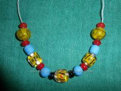 Hade made. ожерелье из стекла. ручная работа. 5 видов