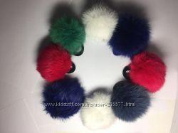 Меховые резиночки для волос