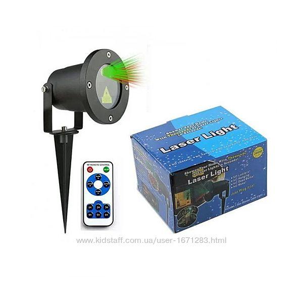 Лазерный проектор Laser light с пультом, уличный, новогодний