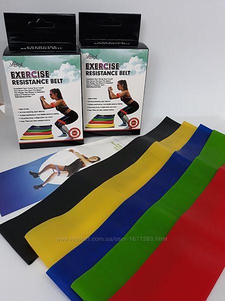 Фитнес Резинки 5шт резинок разной жесткости, спортивные петли для фитнеса