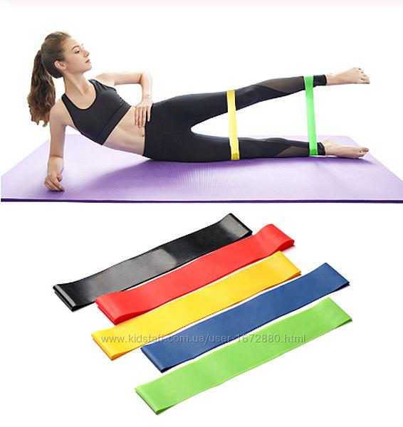 Резинки для фитнеса, ленты для фитнеса и тренировок  Поштучно и наборы.