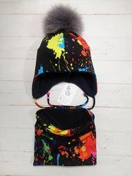Зимний набор шапка и шарфик