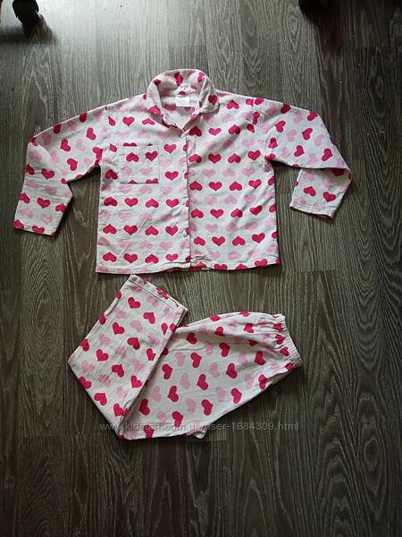Пижама баевая. Тёплая. 9-11 лет