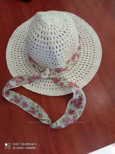 Плетёная шляпа-панамка. 5-8 лет