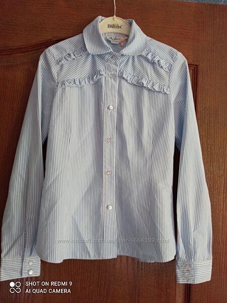 Рубашка-блузка в школу 9-12 лет