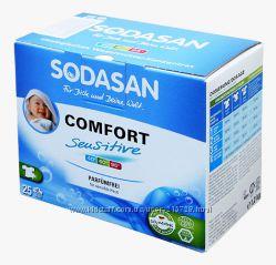 Детский порошок стиральный  для чувств кожи SODASAN. В наличии