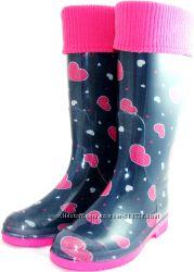 СП Женские резиновые сапоги с махровым носком Много моделей . 349грн.