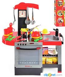 Детская игровая кухня с аксессуарами и звуками, высотой 82 см
