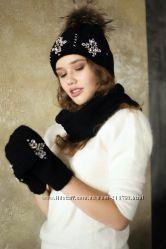 Красивенные шапки, варежки и хомуты крупной вязки