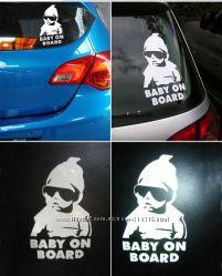 Наклейка -предупреждение Осторожно, в салоне ребенок на авто.