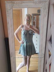 Суперовое платье джинс jennyfer s-m