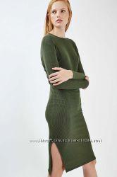 Новое модное 2017 платье рубчик Topshop 38