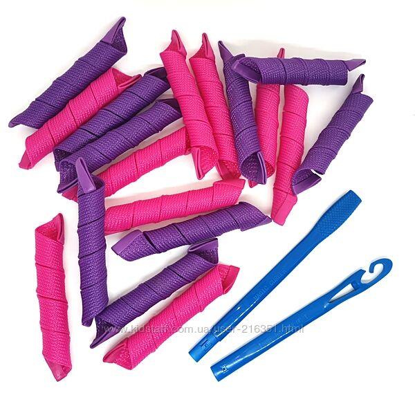 Бигуди Magic Curler Спираль длина 30 см, набор 18 шт. , стандартный локон
