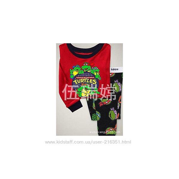 Пижама детская GAP трикотажная с рук. Черепашки ниндзя, 2Т на рост 70-80