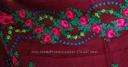 1 часть-Очень яркие платки в стиле матрешка. Cалатовый, бордо.
