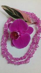 Шикарное ожерелье из горного хрусталя, 85 см