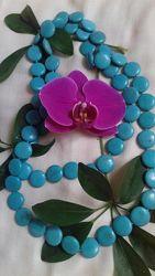 Длинное ожерелье из бирюзы, 114 см