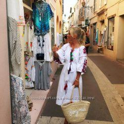 Стильное платье-вышиванка