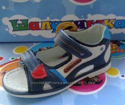 Кожаные сандали 25-30 для мальчика