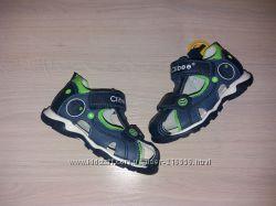 Кожаные сандали на лето   для мальчика