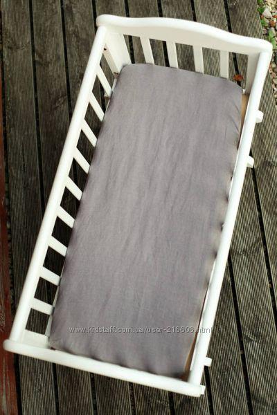 матрасик в коляску натуральный  чехол льняной