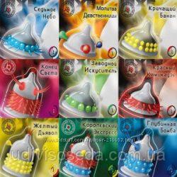 Презервативы с шариками и усиками 3 шт разных в упаковке