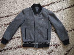 Мужское, шерстяное пальто на резинке 46р-р