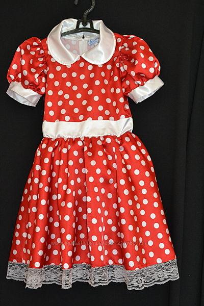 Нарядное платье  в горох Дисней-Ленд на 8-9 лет