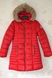 Зимнее теплое  пальто  NEXT на девочку 7-8 лет