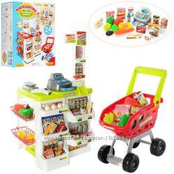 Игровые наборы Супермаркет с тележкой и продуктами. Касса, сканер.