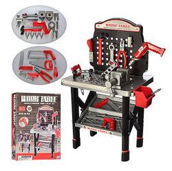 Детский набор инструментов Quality  tool 008-21 и Work Table 16554B и