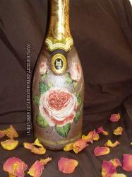 Декупаж бутылок к празднику
