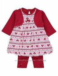 Платье с болеро  леггисы George 6-9мес