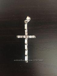 Крестик серебряный Италия